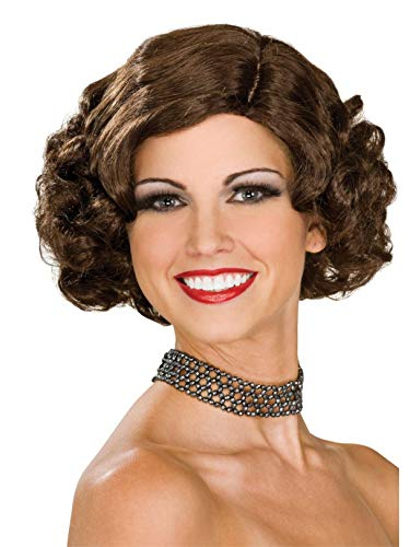 Rubie's Flapper Wig, Brunette, One -