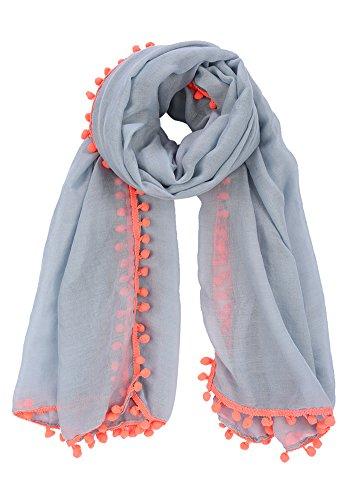 Solid color Fashion Scarf Chiffon Long Hijabs (Grey) - 9