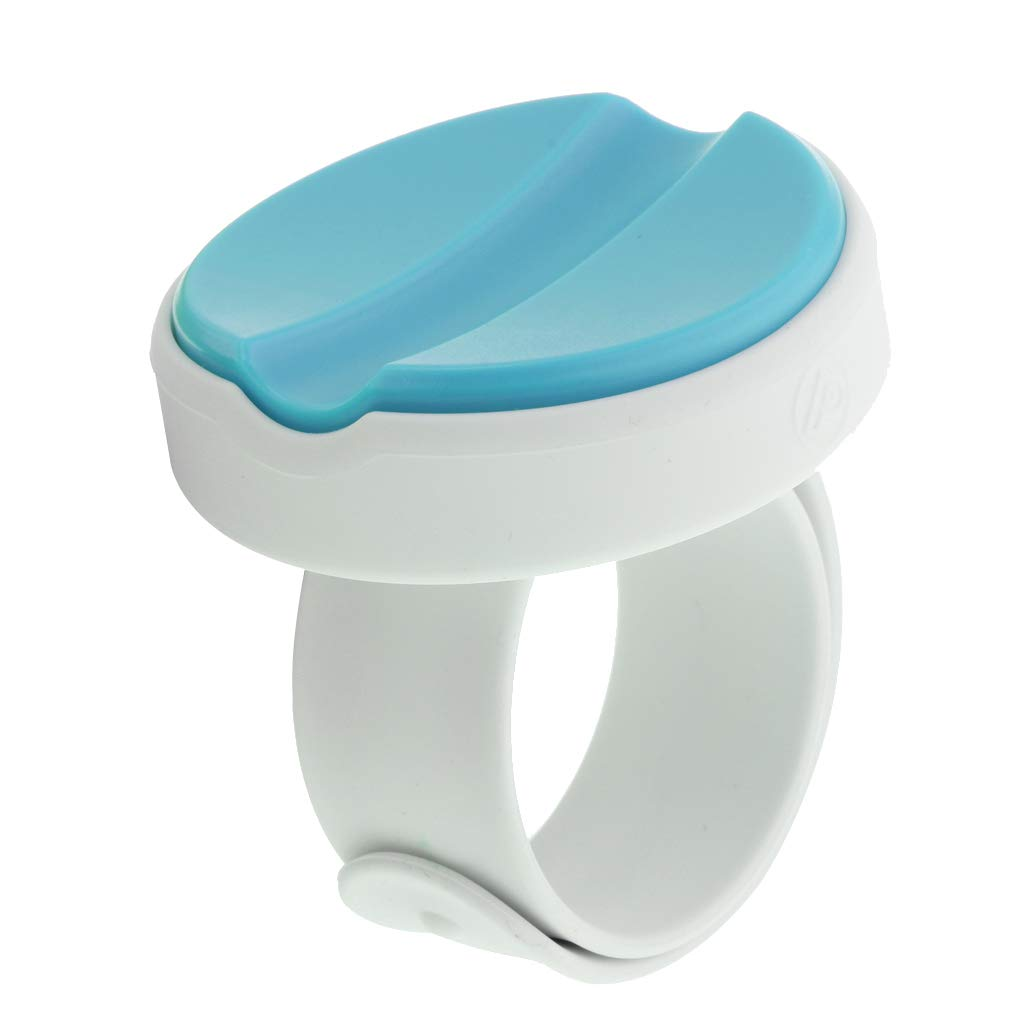 Flameer 1 Piece Magnetic Pin Bowl Plastic Magnetic Sewing Pin Holder Cushion and Wrist Band Blue