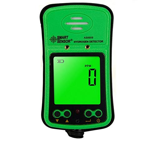 (Portable H2 Gas Detector 0~1000ppm LCD Display Rechargeable Li-battery Powered Alarm Handheld Digital Hydrogen Gas Monitor Meter Tester)