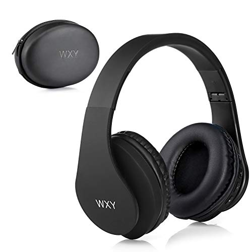Over Ear Bluetooth Headphones, WXY Wireless Headset V5.0 with Built-in Mic, Micro TF, FM Radio, Soft Earmuffs…