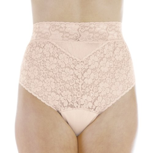 Women's Beige Lovely Lace Trim Incontinence Panties XL (Single)