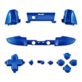 eXtremeRate LB RB LT RT Bumpers Triggers D-Pad ABXY Start Back Sync Buttons, Blue Full Set Buttons Repair Kits with Tools for Xbox One S & Xbox One X ControlOne S & Xbox One X Controller