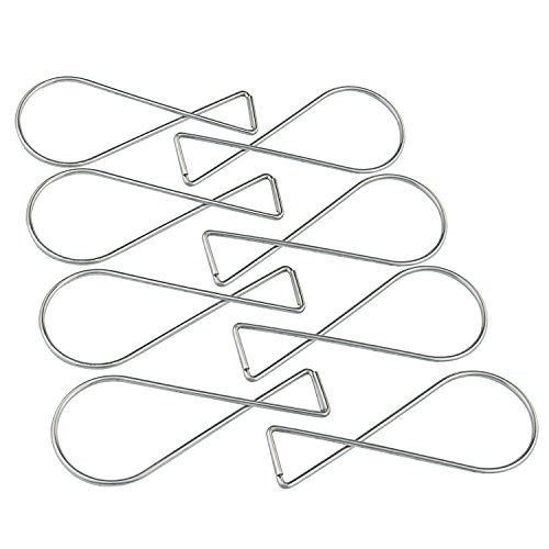 100 PCS Ceiling Hooks Clips – Pistha T-bar Squeeze Hangers Clips , Using in Office, Classromm or Living Room, Bed Room