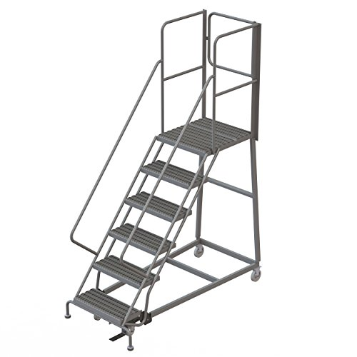 Tri-Arc RWEC106242-XR 6-Step Gateway Rear-Exit Gate Forward Descent Incline Ladder with 27