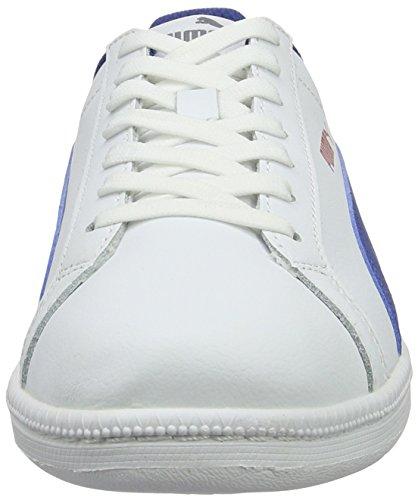 puma Sneakers Fun Blue L true Basses White Blanc Mixte 12 Enfant Puma Jr Smash aB1wz