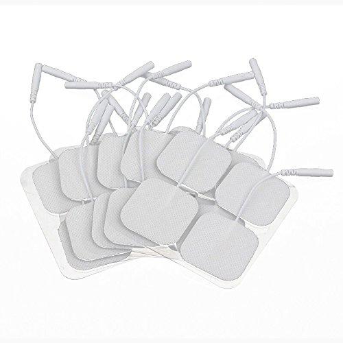 Électrodes Électrodes TENS Machine de remplacement Électrodes pour TENS Digital Therapy machine masseur 4*4 cm 20 pièces