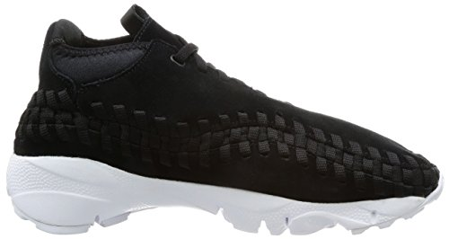 Nike Mens Air Footscape Tessuta Chukka, Nero / Bianco, 10,5 M Us