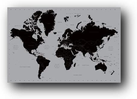 Amazon Com Pyramid World Map Contemporary Poster Print Posters