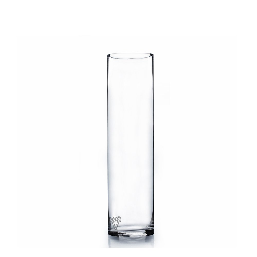 WGV Clear Cylinder Glass Vase, 14-Inch by WGV International