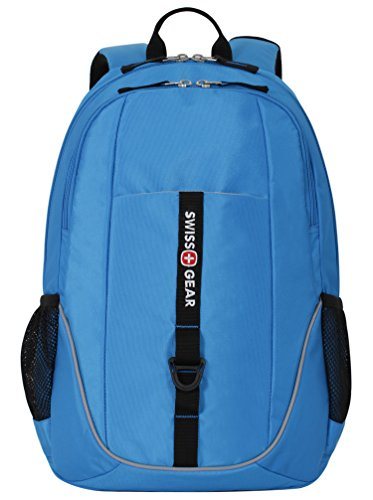 Swiss Gear SA6639 Neon Blue Laptop Backpack - Fits Most 15 Inch Laptops and Tablets by Swiss Gear