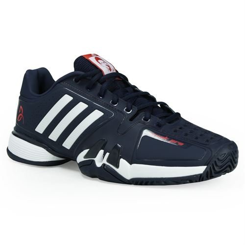 adidas Barricade 7 Novak Pro Men's Tennis Shoe Core Navy/White/Red (Adidas Tennis Pro)