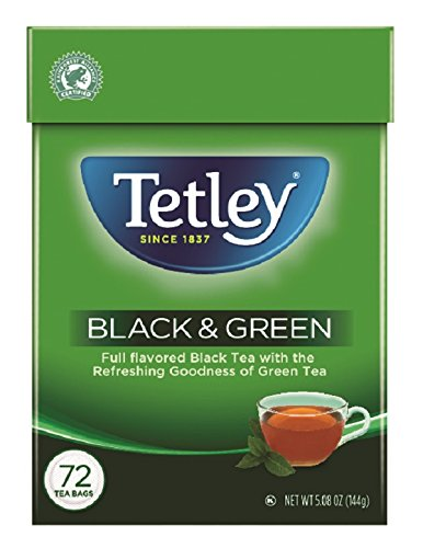Tea Blend Green (Tetley Black & Green Tea, 72 Tea Bags)