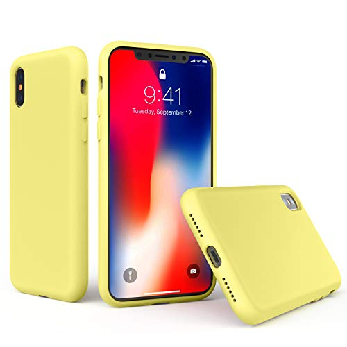 Xmifer iPhone X/Xs Case Soft Silicone Slim Rubber Bumper Case Anti-Scratch Microfiber Lining Hard Shell Shockproof Full-Body Protective Case Cover for Apple iPhone X/iPhone Xs 5.8