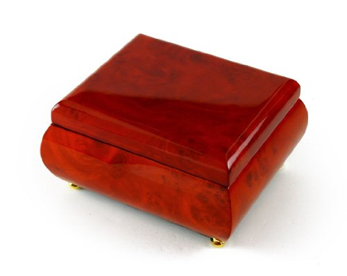Astonishing Hi Gloss Wood Tone Petite Music Box with 18 Note