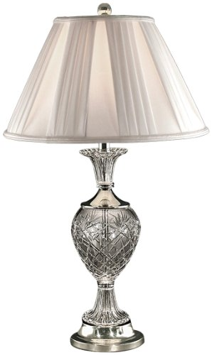 Dale Tiffany GT70463 Yorktown Table Lamp, Brushed Nickel and Fabric - Co Tiffany And Deals