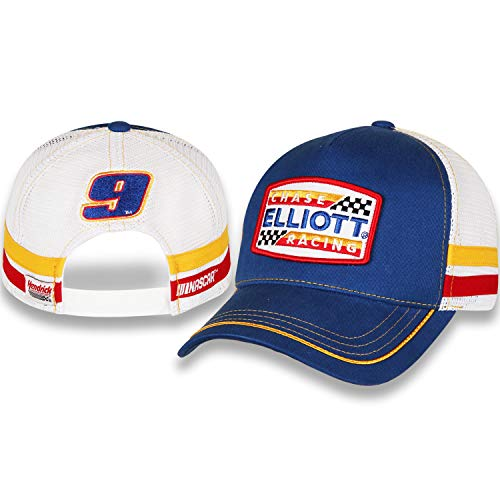- 2019 Chase Elliott Racing #9 Retro Throwback Blue Patch Trucker Hat/Cap