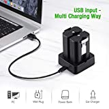 Charging Station and 2 Packs Rechargeable 3.65V
