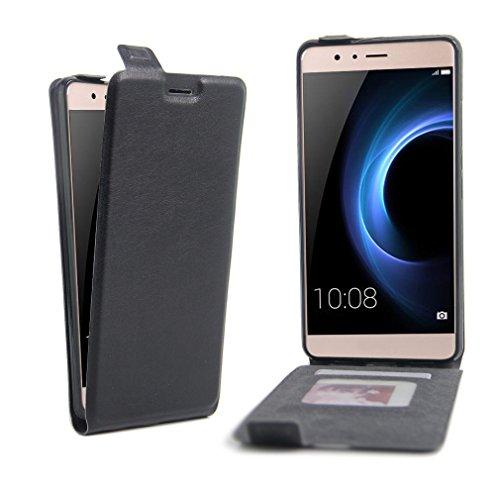 Funda Huawei Honor V8,Manyip Caja del teléfono del cuero,Protector de Pantalla de Slim Case Estilo Billetera con Ranuras para Tarjetas, Soporte Plegable, Cierre Magnético A