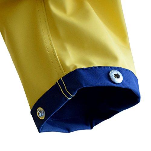 Modas Herren & Damen Friesennerz Regenjacke in gelb/blau