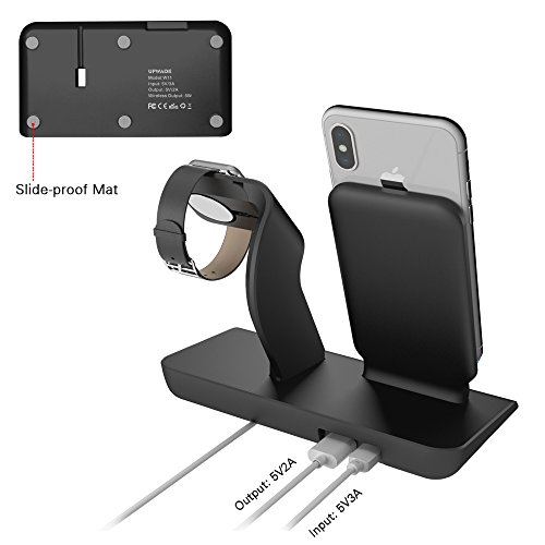 Apple Watch Stand charging docks & iPhone X Wireless Charger Stand for iPhone X/8/8 Plus,iwatch charger stand holder for Apple Watch Series 3,2,1 & Nike by XDODD (Image #4)