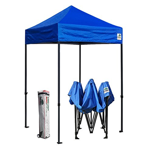 Eurmax 5x5 Ez Pop up Canopy Outdoor Heavy Duty Instant Tent Pop-up Canopies Sun Shelter with Deluxe Wheeled Carry Bag (Royal ()