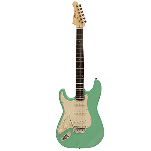 Sawtooth ST-ES60-LH-SGRW Classic ES 60 Alder Body Left-Handed Electric Guitar - Surf Green with Aged White Pickguard