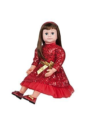 "Ask Amy 22"" Talking Interactive Singing Storytelling Smart Educational Doll Brunette Red Sparkles Dress"