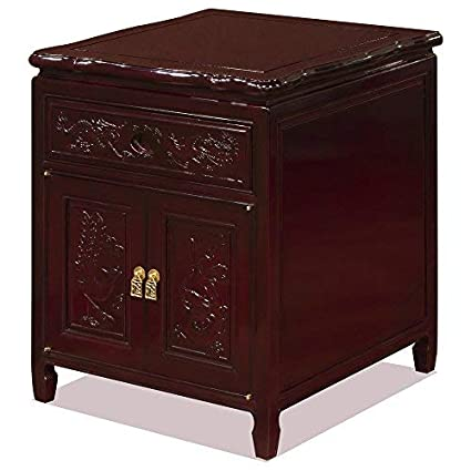 Amazon.com: China Muebles en línea Rosewood lámpara de noche ...