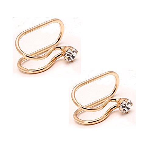 Casfine Non-Piercing Ear Bone Clip U-type Cartilage Ear Clip Ear Cuff Clip Wrap Mothers Day Gift