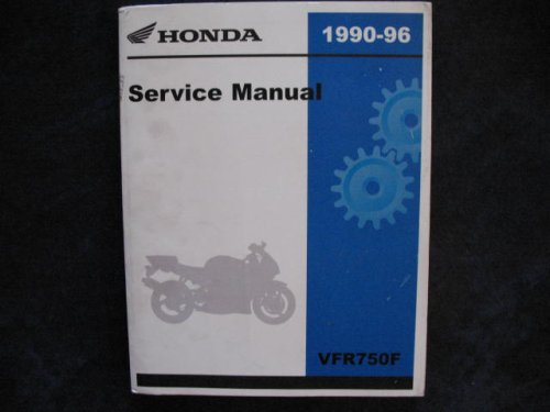Honda 1990-1996 VFR750 VFR 750 Interceptor New Original Factory Shop Manual