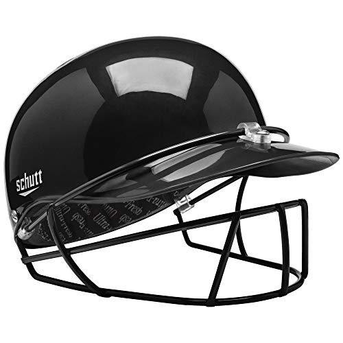 Schutt Sports Pitcher's Protector Baseball/Softball Head and Face Protection, Black, Small ()
