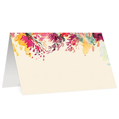 Cards (50 Pack) Wedding Escort Cards Blank Table Seating Event Decor Thanksgiving Christmas Holiday Dinner Formal Folded Pre-Scored 3.5 x 2 Digibuddha Decoration ()