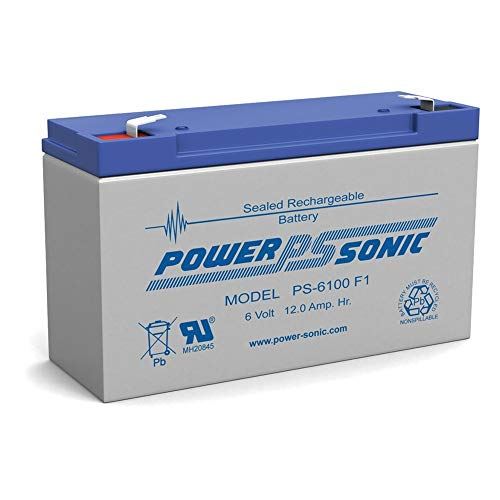 Powersonic PS-6100 6V 12AH UPS Battery for