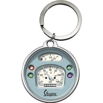 Nostalgic-Art 48030 Vespa - Llavero con cuentakilómetros (Redondo, 4 cm), diseño de Vespa