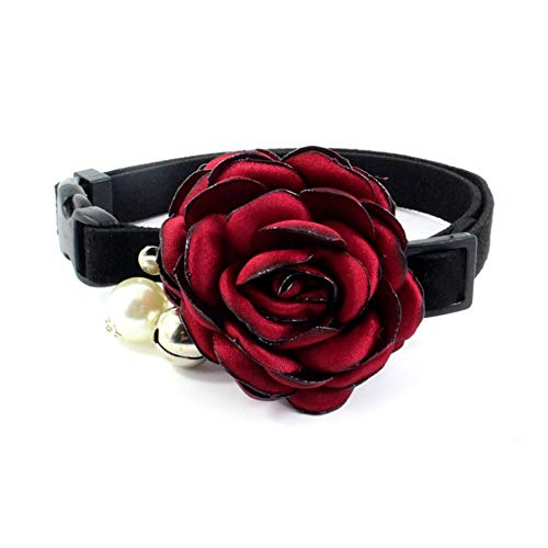 PetFavorites Everflowering Rose Flower Cat Dog Collar Bow