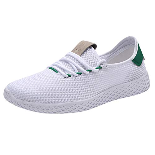 JJHAEVDY Men's Mesh Breathable Sneakers Fashion Lightweight Running Shoes Slip-On Casual Shoes Comfort Sport Shoes (Cc Running Cushion Shoe Mens)
