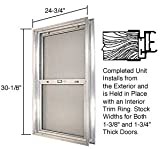 C.R. LAURENCE BAP304 CRL Satin Anodized 24-3/4'' x 30-1/8'' Bel-Air ''Plaza'' Combination Door Unit With Clear Tempered Glass and Mill Frame for 1-3/4'' 3-0 Slab Door