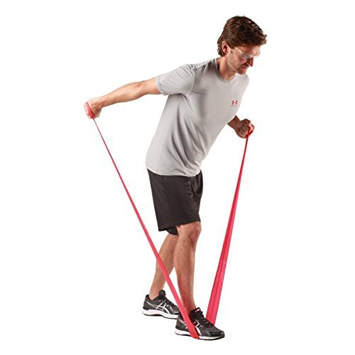 TheraBand Resistance Bands, 50 Yard Roll Professional Latex Elastic Band For Upper & Lower Body & Core Exercise, Physical Therapy, Pilates, At-Home Workouts, Rehab, Red, Medium, Beginner Level 3 by TheraBand (Image #6)