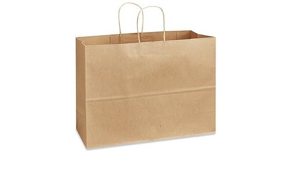 Papel reciclado bolsa de la compra - 16 x 6 x 12,