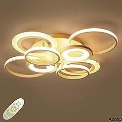 Interior Lighting Asobp 31.5 inch Flush Mount LED Ceiling Light Fixture, 68W 4100lm 3000K/4000K/5000K Adjustable, Spraying Finish Saturn… modern ceiling light fixtures