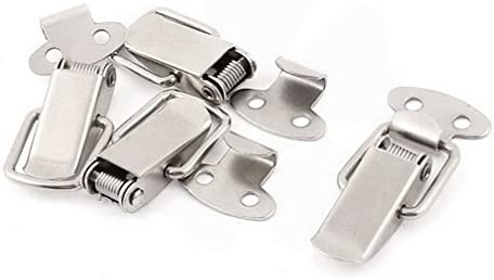 Houseuse Latches Suitcase Chest Boxes Metal Spring Loaded Toggle Latch Hasp Lock 4pcs