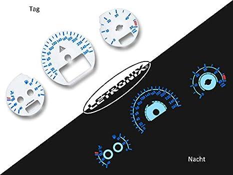 LETRONIX Plasma Tacho Tachoscheiben f/ür Auto W210 0-260Km//h 7000U//Min