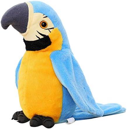 BSTiltion Papegaai speelgoed voor kinderen elektrisch praten papegaai herhaalt wat je zegt interactief praten papegaai pluche speelgoed praten vogel speelgoed zwaaiende vleugelsideale kinderen kinderen kinderen baby geschenken