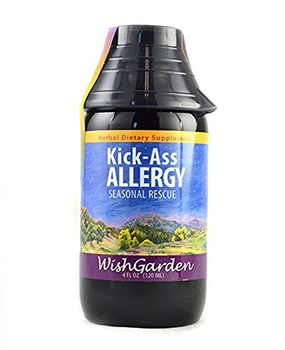 WishGarden Herbs - Kick-Ass Allergy, Organic Herbal Allergy Supplement, Supports Immune Response to Seasonal Allergies (4 oz Jigger)
