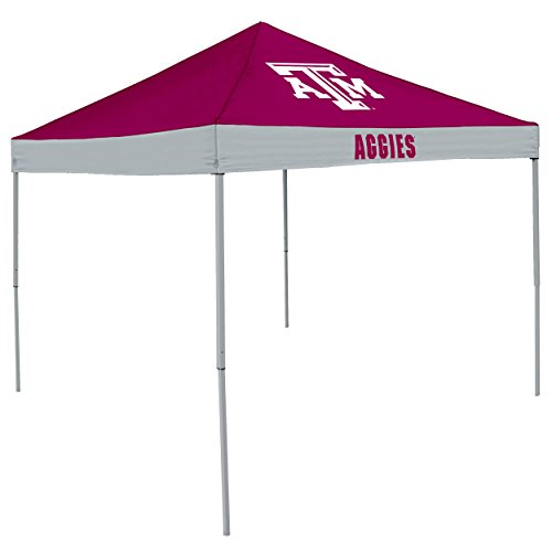 Logo Brands NCAA Texas A&M Aggies Unisex Adult Economy Canopy Tailgate Tent, Maroon/White, One Size
