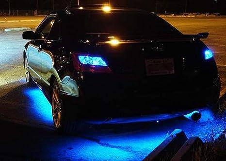 2x LED Light Strip 30cm Car Truck Motorcycle Sidelight Indicator Under Bumper Fog Lamp Tail Stop Daytime Light DRL Interior Universal Fit Blue
