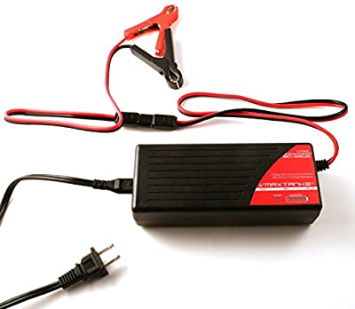 BC3602 + Alligator Clamps: VMAX BC3602 36V 2 Amp 4-Stage Smart Battery Charger and Maintainer