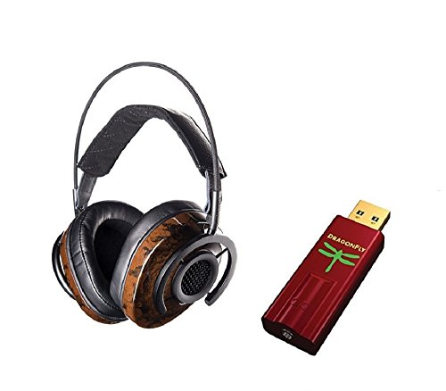 Audioquest Nighthawk Headphones and Dragonfly RED Bundle by Audioquest