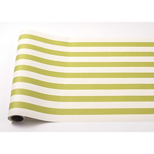 Green Classic Stripe Paper Table Runner 25' American